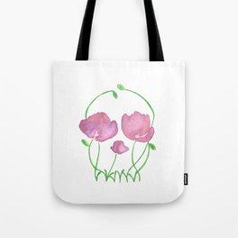Tulip Skull Tote Bag
