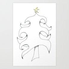 Pointillist Tree Art Print