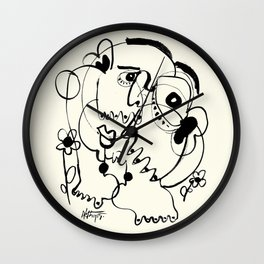 One Happy Man Wall Clock
