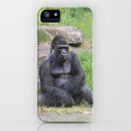 Gorilla Eating A Carrot iPhone Case