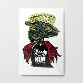 Annunaki Reptilian Reina  Metal Print