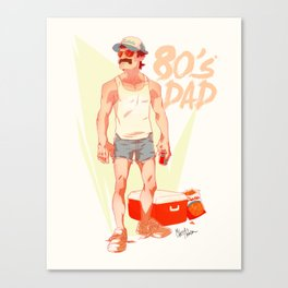 The 80's Dad Canvas Print