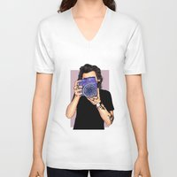 harry styles V-neck T-shirts featuring Styles by sparklysky