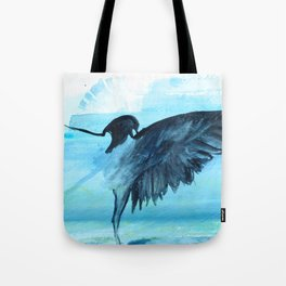 Blue Crow Tote Bag