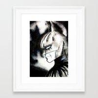 bat man Framed Art Prints featuring bat man by Tufty Cookie