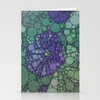 potato Stationery Cards featuring Percolated Purple Potato Flower by Charma Rose