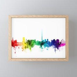 Dublin Ireland Skyline Framed Mini Art Print