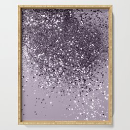 Sparkling Lavender Lady Glitter #2 #shiny #decor #art #society6 Serving Tray