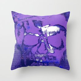 Purple notes Throw Pillow