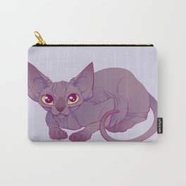 Happy Sphynx Cat Carry-All Pouch