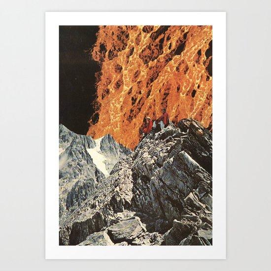 fire on the horizon Art Print
