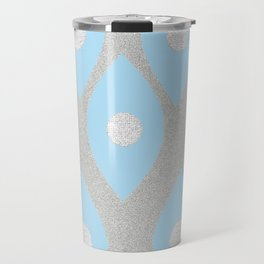 Eye Pattern Blue Travel Mug