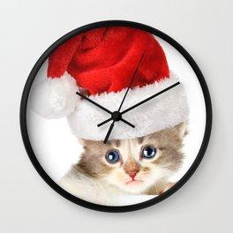 Sad Noel Kitten Wall Clock