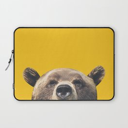 Bear - Yellow Laptop Sleeve