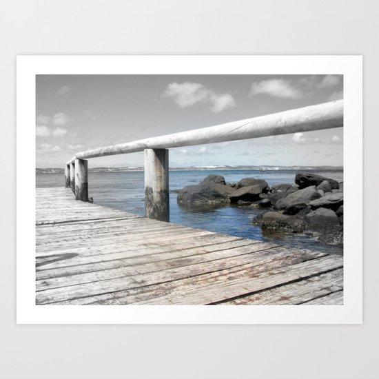 Jetty at bridgewater Art Print