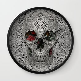 Lace Skull 2 Wall Clock