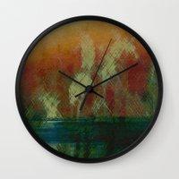 oasis Wall Clocks featuring Oasis by Fernando Vieira