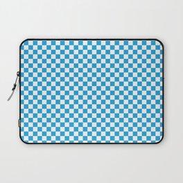 Oktoberfest Bavarian Blue and White Checkerboard Laptop Sleeve