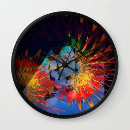 Disco for robots Wall Clock