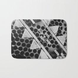 Rough Geometric Shapes Bath Mat