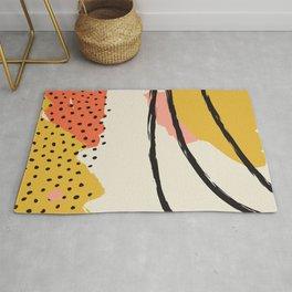 Mid Century Abstract Print, Modernist Modern Art, Color Field Contemporary Art, Large Wall Art, Suns Rug