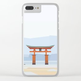 Floating torii, Itsukushina Shrine, Japan Clear iPhone Case