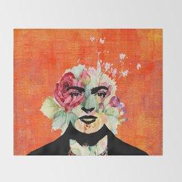 Frida flowers Throw Blanket