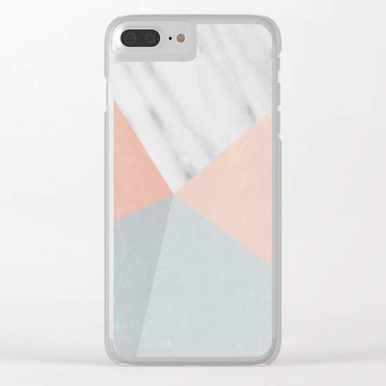Blossom Geometry Clear iPhone Case