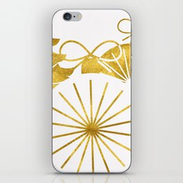 Gold Christmas 01 iPhone Skin