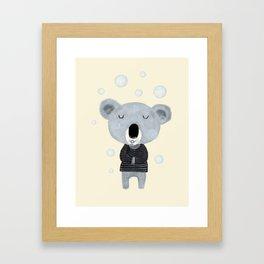 koala bubbles Framed Art Print