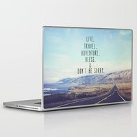 kerouac Laptop & iPad Skins featuring Kerouac - Travel Edition by Altgasse Designs
