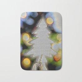 small christmas tree and lights Bath Mat
