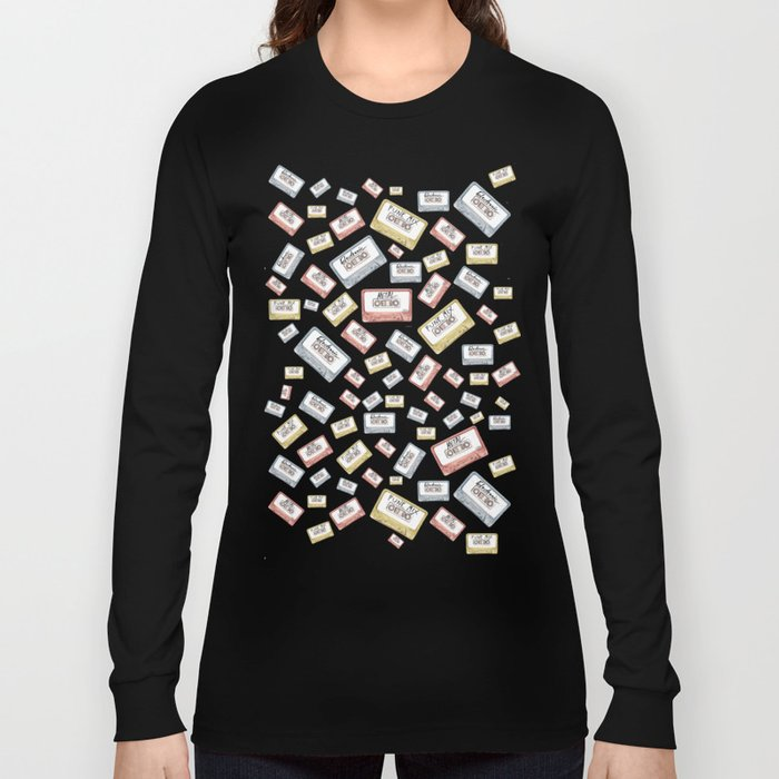 Primary Mixtapes on Black  Long Sleeve T-shirt