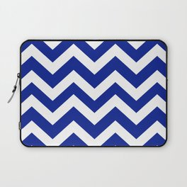 Indigo dye - blue color - Zigzag Chevron Pattern Laptop Sleeve