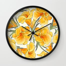 the daylily Wall Clock