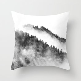 Misty Forest 2 Throw Pillow