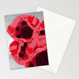 In memoriam - Heart of poppies Stationery Cards