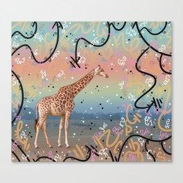 Great Little Giraffe Canvas Print