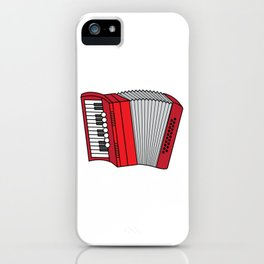 Accordion Accordionist T Shirt Gift Accordion iPhone Case