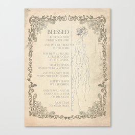 Blessed Is Canvas Print