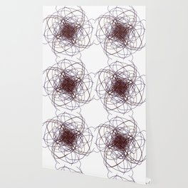 WINT. ETHNIC B ON WHITE Wallpaper