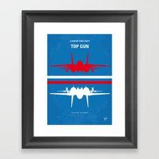 No128 My TOP GUN minimal movie poster Framed Art Print