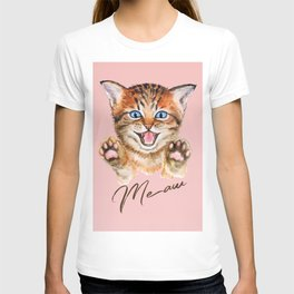 Watercolour meaw kitten T-shirt