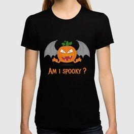 Funny spooky halloween pumpkin T-shirt