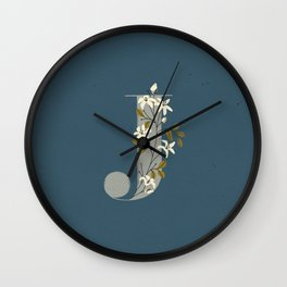 J for Jasmine Wall Clock