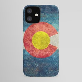Colorado State flag, Vintage retro style iPhone Case