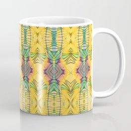 Vintage African Yellow Dynamic Pattern Coffee Mug