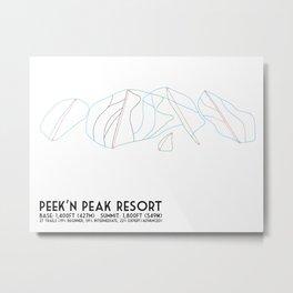 Peek'n Peak, NY - Minimalist Trail Map Metal Print