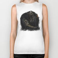 dark souls Biker Tanks featuring Gravelord Nito - Dark Souls by VerticalSynapse