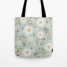 Gold Daisy Tote Bag